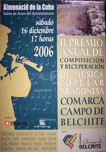 II Premios Anual de Composición y Recuperación de Música Popular Aragonesa