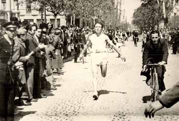 Alberto Murillo, de Leciñena, un corredor de posguerra