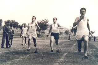 Francisco Bayo, primer internacional aragonés en pista