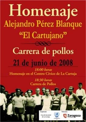 Corrida de pollos homenaje a Alejandro Pérez