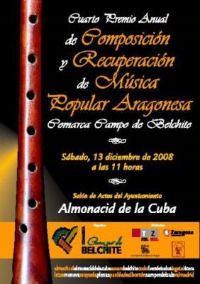 IV Premio Anual de Composición y Recuperación de Música Popular Aragonesa Comarca Campo de Belchite 2008