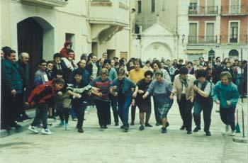 Las mujeres festejan a Santa Águeda practicando deporte