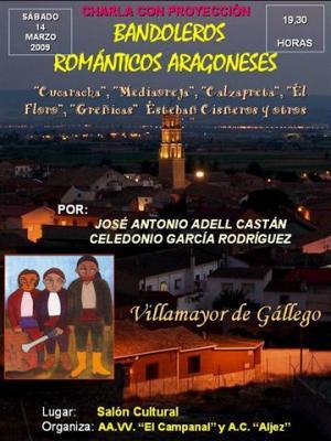 Cucaracha, Mediaoreja, El Floro y otros bandoleros aragoneses viajan a Villamayor