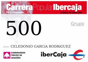 Carrera popular Ibercaja por la integración, Zaragoza 2009