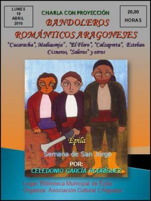 Bandoleros románticos aragoneses, tema de la charla organizada por L'Alguaza