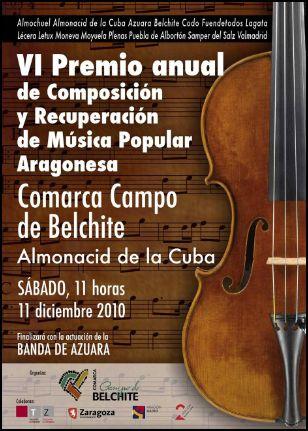 Entrega de premios de Composición y Recuperación de Música Popular Comarca Campo de Belchite